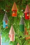 Rolinhos viram casa de passarinho