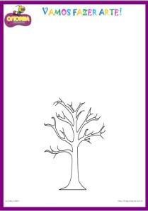 Modelo da árvore de rolinho