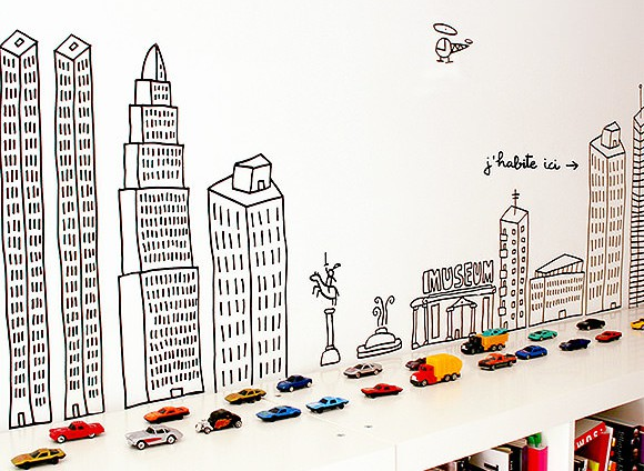 Hot Wheels wall